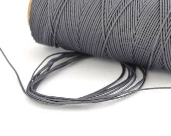 1 M of grey steel cord 0.5 mm polyester