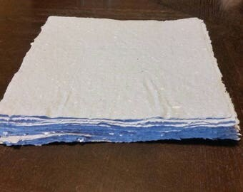 Handmade Paper from Recycled Material - 10 Sheets
