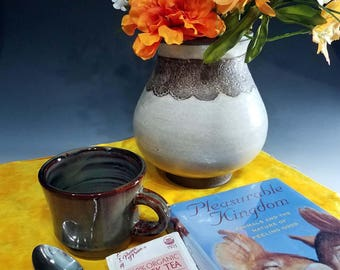 Handmade 6 oz Espresso Cup in Variable Brown
