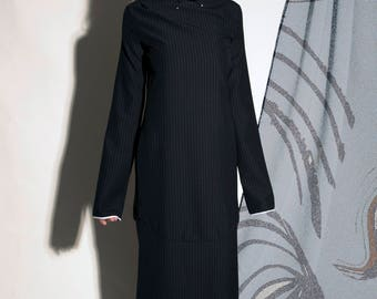 pinstripe day dress