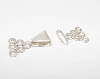 925 Silver clasp, MULTISTRAND. (9479496)