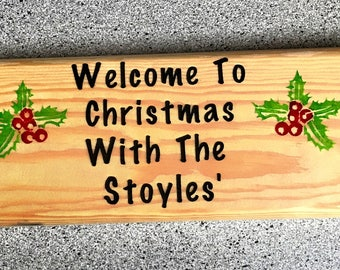 Personalised Christmas Sign | Welcome to Christmas Sign | Personalised Xmas Sign