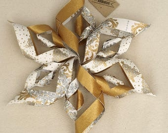 Christmas Star Gold and silver - 39 cm