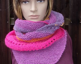 Woman scarf / multicoloured wool