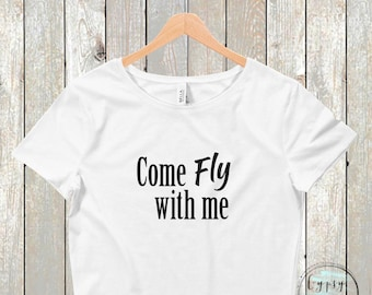 Come Fly with Me Crop Top