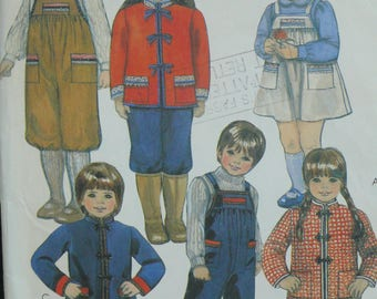 Children's Jacket, Romper, Jumper Pattern, Vintage McCalls Pattern 8307 - Size 4