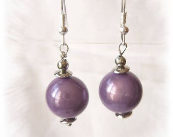 earrings with purple miracle beads