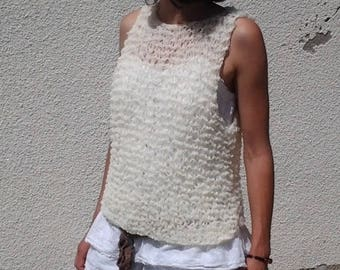 summer top acrylic T36 mesh for woman