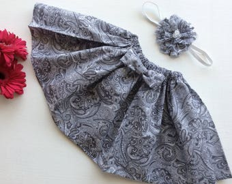 Skirt Hairpiece Headband Girls Clothing Matching Sisters Girls Outfit