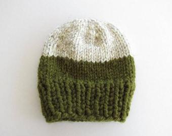 Color Blocked Knit Hat
