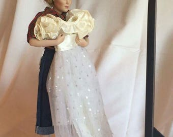 "Danbury Mint ""Prom Dress"" Porcelain Doll"