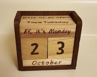 Desk Block Calendar