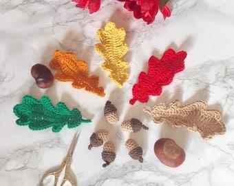 Autumn leafs ornament crochet