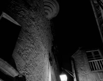 """Photography black and white: """"A glimmer dans la Nuit"""" Sarlat France - 2012"""