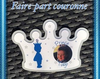 Crown prince boy baptism invitation