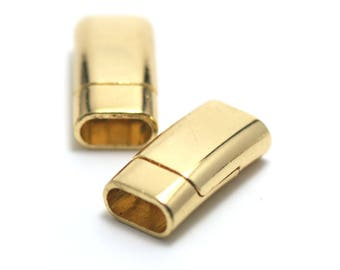 1 magnetic clasps 25 x 12 x 7 mm gold leather and cord