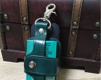 iQOS case leather dyed Green