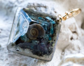 Crystalline Giza Orgone Pendant - Reiki Infused Life Force Generator - Attuned with 528hz Ancient Healing Frequency
