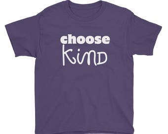 Choose Kind Wonder RJ Palacio anti bullying kindness positive message, acceptance, perserverance, school education motivation Kids shirt