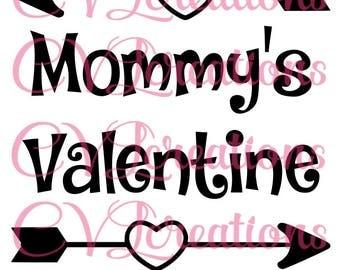 Mommy's Valentine SVG PNG DXF