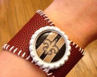 New Orleans Saints Football Bracelet