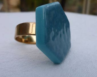 Unique and original turquoise ring - BRIARD COLLECTION
