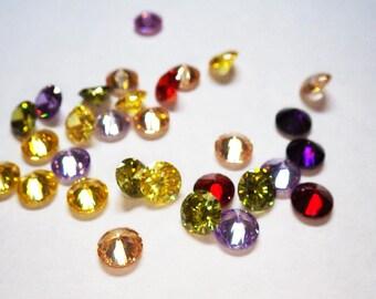 Loose Gemstones - Cubic Zirconia, Round, 6mm