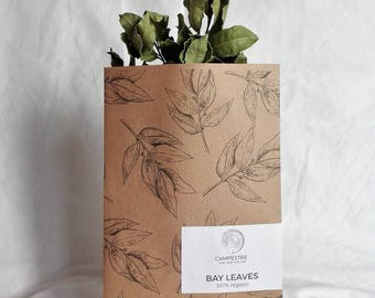 bay leaf: campestre bay leaf, 100% organic, made in italy, laurel, dressing for food, dried bay leaf, bay leaves, laurel sprigs, dried herbs