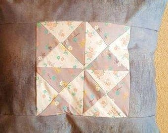 46 cm square patchwork cushion complete with cushion pad