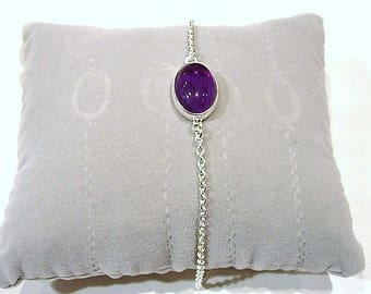 Silver and Amethyst bracelet.