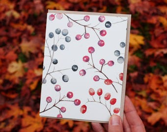 Holiday Berry Terrene Studio Greeting Card