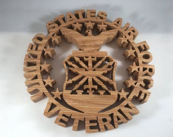 Air Force Veteran Wall Hanging