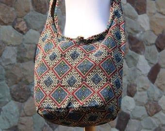 Tribal Crossbody Bag Hippie bag Hobo bag Boho bag Shoulder bag Sling bag Messenger bag Crossbody Sling bag  X Large Womens bag Hobo Sling