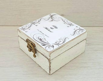 Wedding ring box rustic Personalized ring box Wedding ring holder Ring bearer box Custom jewelry box Engagement box Proposal box Wooden box