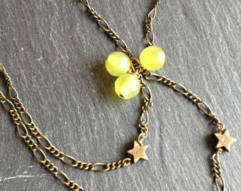 balls and stars necklace Green