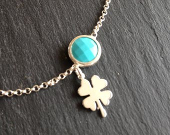 Lucky clover bracelet and turquoise