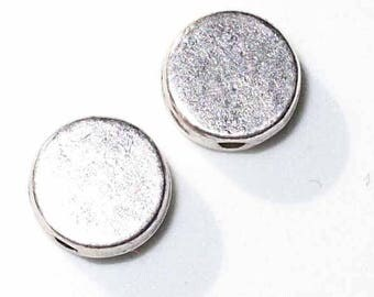 2 studded silver 7 mm - MR196
