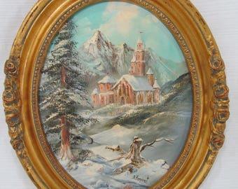 Rare ORIGINAL OIL PAINTING by 20th Century Illinois Painter Betty Kondrat