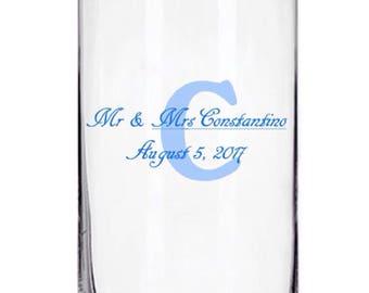Customized 7.25 inch Glass Cylinder Vase