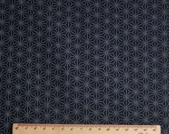 Traditional Japanese fabric Navy Blue geometric pattern