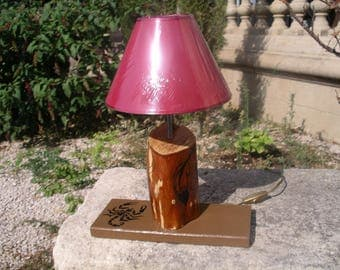 Living in tree trunk lamp