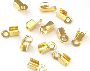 X 100 clasps gold 9x4mm ❤ ❤