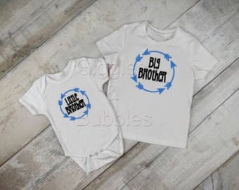 Big Brother Little Brother t-shirt/onsie matching set personalised bodysuit t-shirt