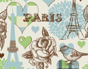 ORIGINAL design, durable and WASHABLE PLACEMAT - Paris romance - classic.