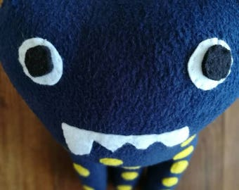Hand made • Blue & Yellow • Plushie Monster Toy •