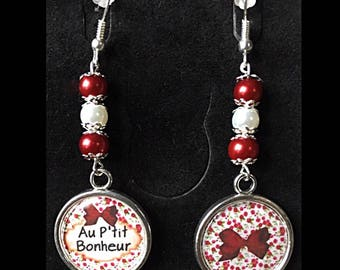 """Earrings cabochon """"p ' little happiness"""""""