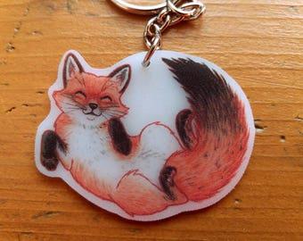 Plastic Fox Keychain handmade