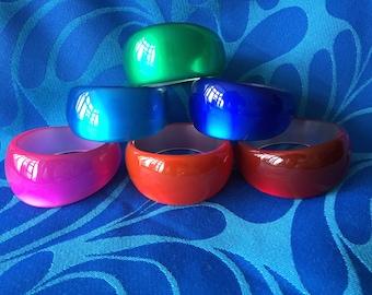 Brightly coloured heavy chunky bangles