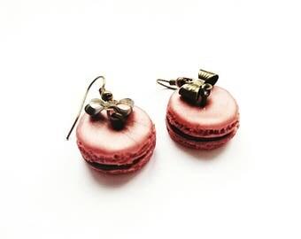 Macaroon chocolate Strawberry way vintage earrings