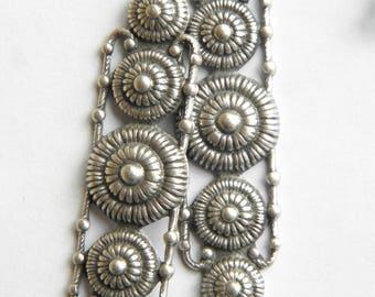 Lot 2 big dot prints Etruscan Byzantine style chandeliers connectors silver vintage